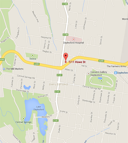 daylesford-osteopathy-map
